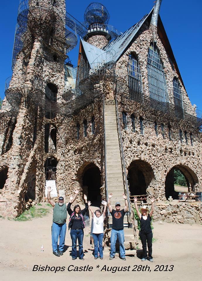 Hands Up Pose Bishop's Castle