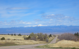 View of Pike's Peak from Wetmore Colorado