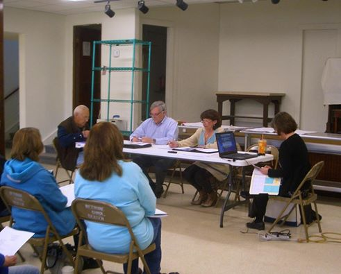 County Commissioner meeting at Wetmore Community Building