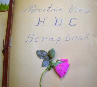 Mountainview HDC scrapbook