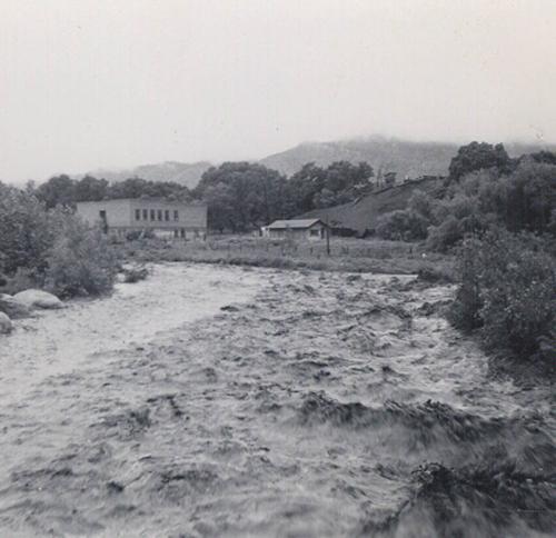 Flooding wetmore school