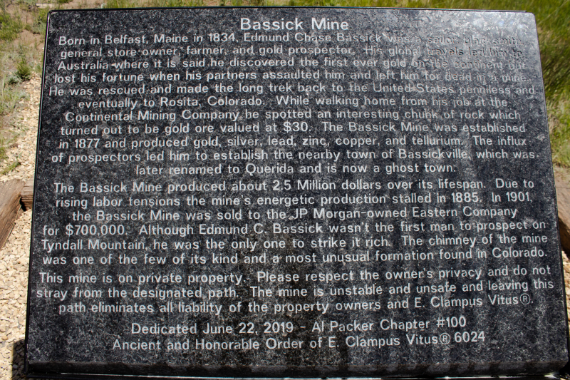Bassick mine plaque