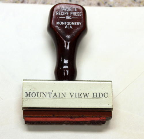 Mountain View HDC rubber stamp