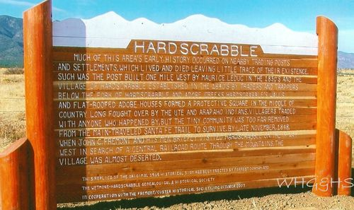 Hardscrabble sign